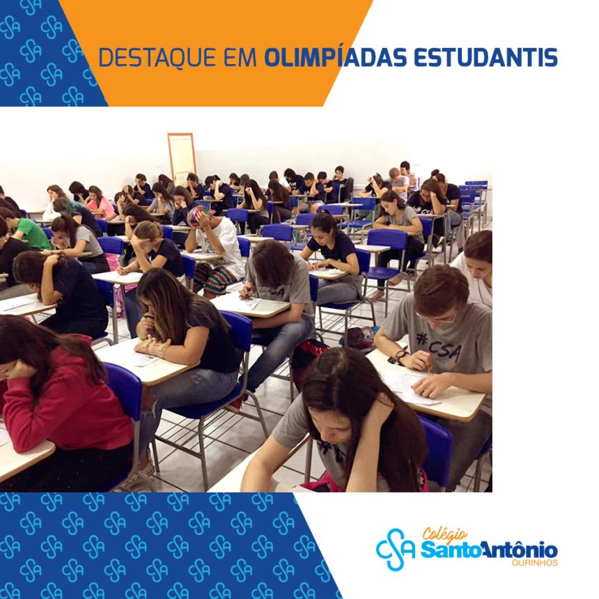 Alunos se destacam em diversas Olimpíadas estudantis