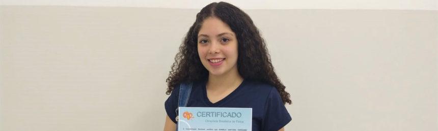 Aluna do CSA se destaca na Olimpíada Brasileira de Física